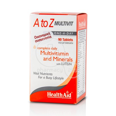 HEALTH AID - A to Z Multivit - 90tabs