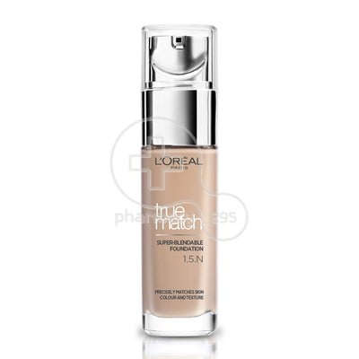L'OREAL PARIS - TRUE MATCH Super Blendable Foundation No15N (Linen) - 30ml