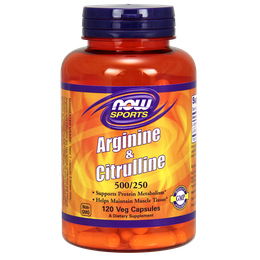 NOW  Arginine & Citrulline 500 - 250mg 120caps