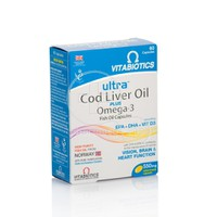 Vitabiotics Ultra Cod Liver Oil 2 in 1 60 Capsules