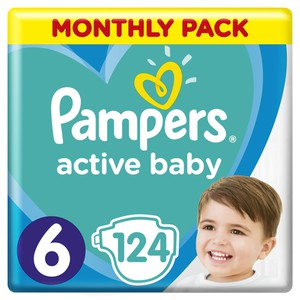 8001090911063 81678677 pampers active baby monthly pack 124tmx