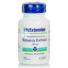 Life Extension BILBERRY Extract 100mg - Μάτια, 90vcaps