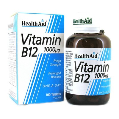 Health Aid - Vitamin B12 1000mg - 100Tabs