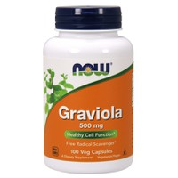 NOW GRAVIOLA 500MG 100VEG. CAPS