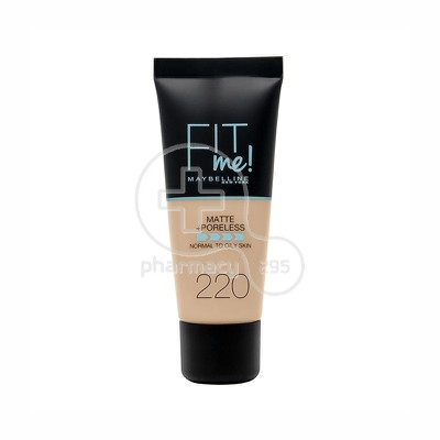 MAYBELLINE - FIT ME Matte & Poreless Foundation No220 (Natural Beige) - 30ml