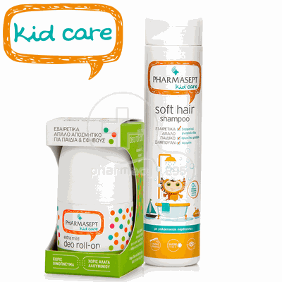 PHARMASEPT - PROMO PACK KID CARE Soft Hair Shampoo - 300ml & Extra Mild Deo Roll-On - 50ml