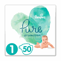 PAMPERS - PURE Protection No1 (2-5kg) - 50 πάνες