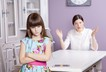 Mother daughter quarrel tantrum rejection saying no