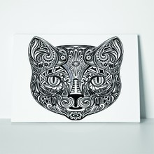 Cat black white line art 159245186 a