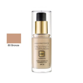 MAX FACTOR ALL DAY FLAWLESS 3ΙΝ1 FOUNDATION 80 BRONZE