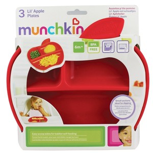 Munchskin apple plates 3pieces