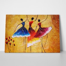 Oil painting three spanish dancers 394574002 a