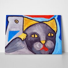 Cat bird painting 131420207 a