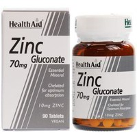 HEALTH AID ZINC GLUCONATE 70MG 90TABS