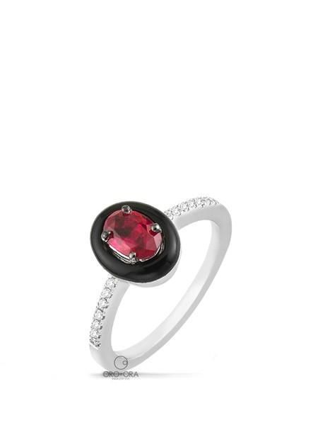 Δαχτυλίδι Λευκόχρυσο K18 με Ρουμπίνι 3bca428de07
