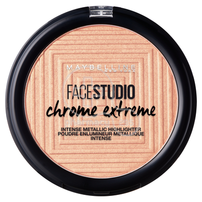 MAYBELLINE - FACE STUDIO CHROME EXTREME Intense Metallic Highlighter No400 (Molten Gold) - 6gr