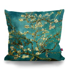 Van gogh blossoming almond tree original pillow