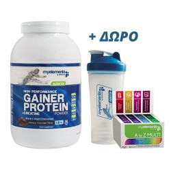 My Elements High Performance Gainer Protein Delicious Chocolate 1,8Kg + ΔΩΡΟ MyElements Shaker & MyElements Multivitamin A to Z 30 caps