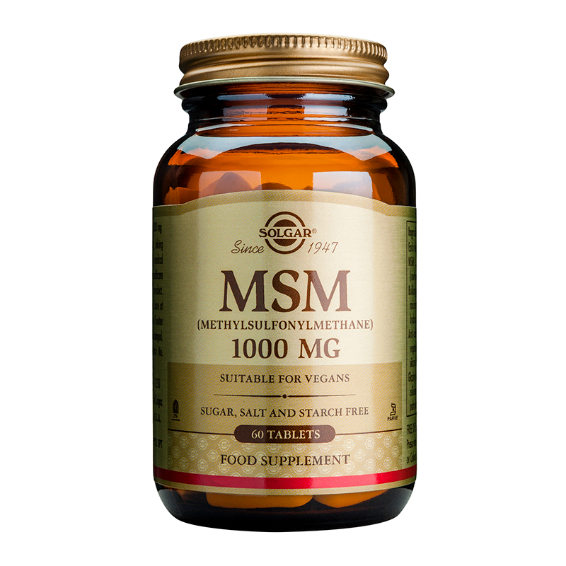 MSM 1000mg tablets