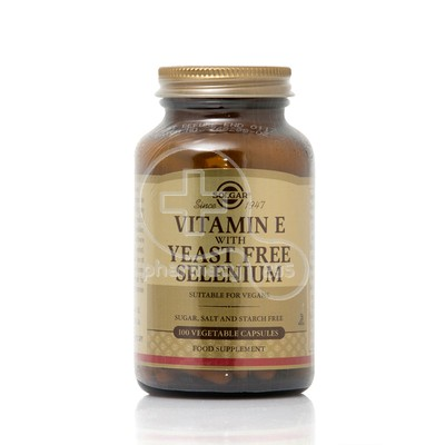 SOLGAR - Vitamin E with Yeast Free Selenium - 100caps