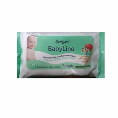 Sani Care - Baby Line Simply Μωρομάντηλα - 72 τεμ.