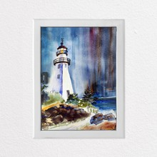 Watercolour lighthouse a