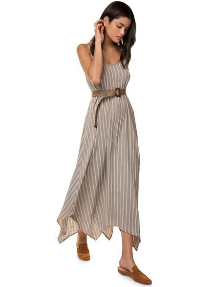 cbf36d036db Ριγέ ριχτό φόρεμα