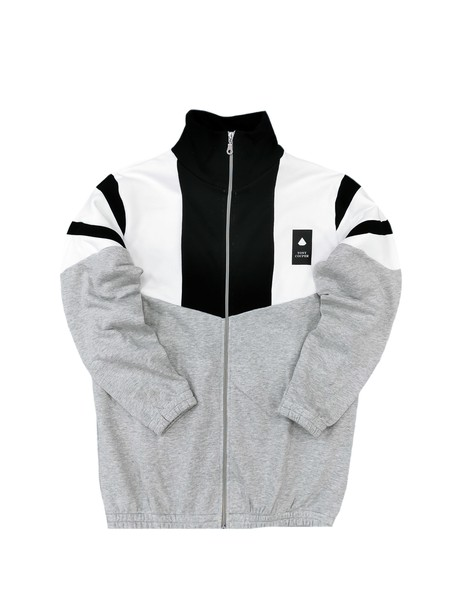 TONY COUPER GREY TRICOLOR ZIP THROUGH HOODIE