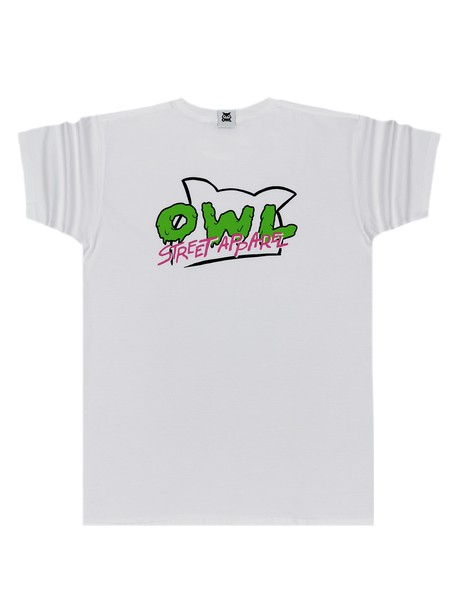 OWL CLOTHES T-SHIRT WHITE MELTED OWL