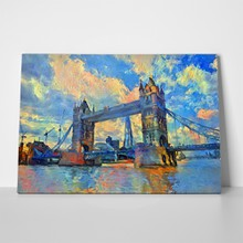 Oil painting london tower bridge 671270887 a