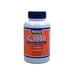 Now Vitamin C-1000w/Rose Hips & Bioflavonoids 100tabs