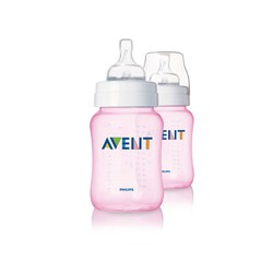 Philips Avent 2 Classic Pink Bottle Slow Flow Nipple