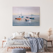 Sailing boats oil painting