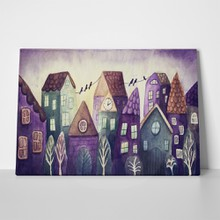 Watercolor painting fantasy colorful houses 567514846 a