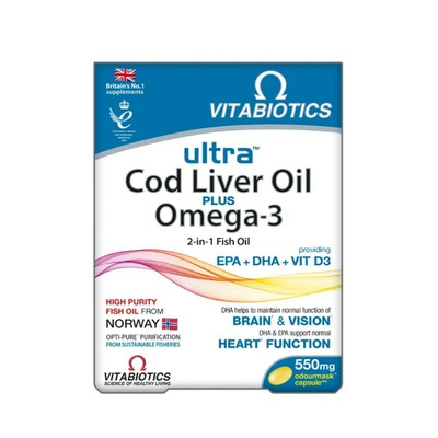 Vitabiotics - Ultra 2 in 1 Cod Liver Oil - 60caps