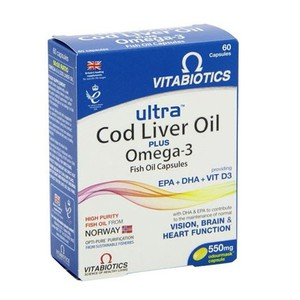 Vitabiotics ultra cod liver oil plus omega 3