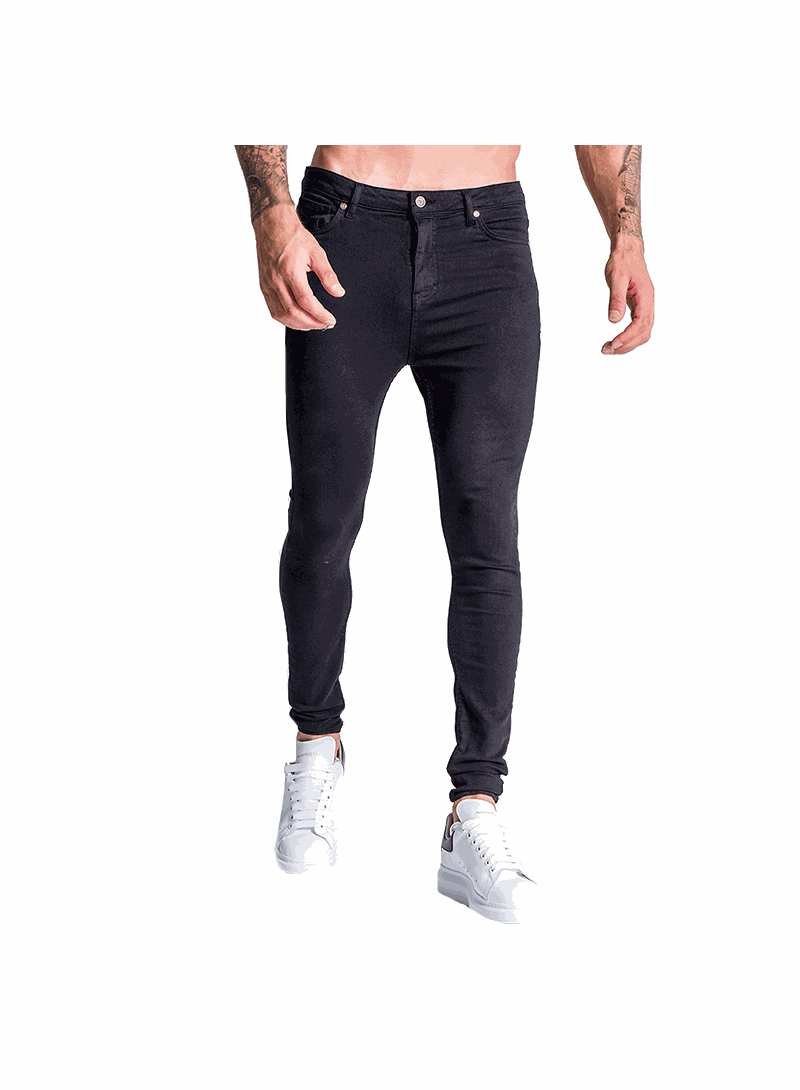 Gianni Kavanagh Black Jeans With Black GK Embroidery