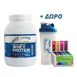 My Elements High Performance Whey Protein Delicious Chocolate 900gr + ΔΩΡΟ MyElements Shaker & MyElements Multivitamin A to Z 30 caps