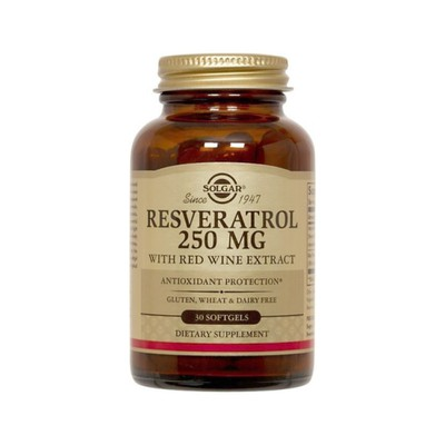 Solgar - Resveratrol 250mg (with Red Wine extract) - 30softgels