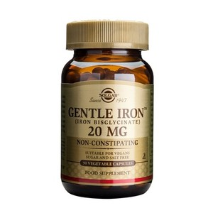 SOLGAR Gentle iron 20mg 90vegetable capsules