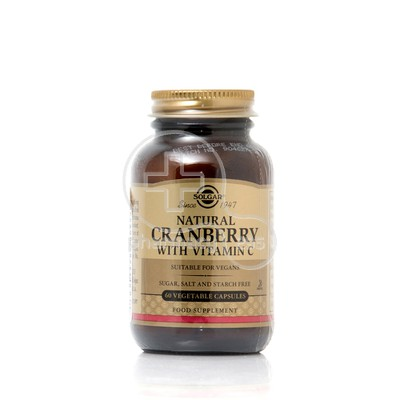 SOLGAR - Natural Cranberry with Vitamin C 400mg - 60caps