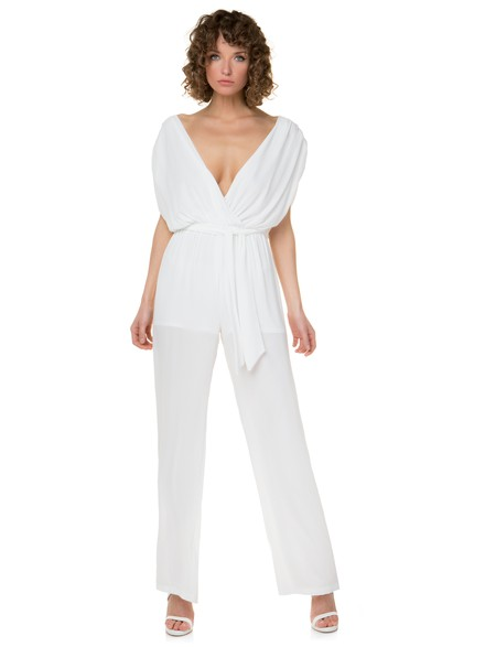 Jumpsuit with ribbon