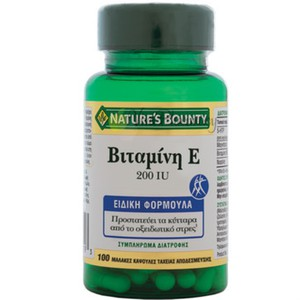 Nature s bounty vitamin e 200iu 100caps