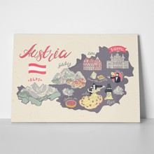 Illustrated map austria 587395205 a