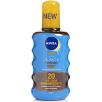 Nivea Sun Protect & Bronze Oil Spray SPF20 200ml - Αντηλιακό Σώματος