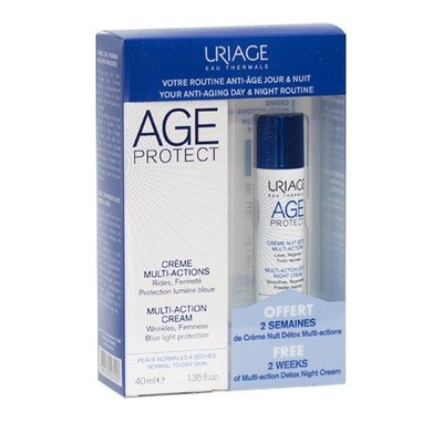 Uriage - Promo Pack Age Protect Multi-Action Cream 40ml & ΔΩΡΟ Age Protect Multi-Action Detox Night Cream 10ml