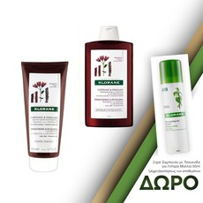 Klorane Stengthening & Revitalizing Shampoo with Quinine & B Vitamins Δυναμωτικό Σαμπουάν 400ml + Conditioner with Quinine & B Vitamins Μαλακτική Κρέμα Μαλλιών 200ml.