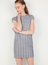 Striped boxy dress