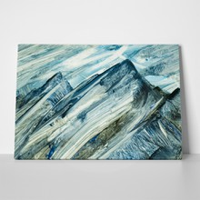 Abstract mountain landscape hand painted a