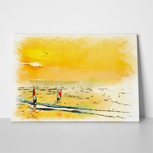 Watercolor windsurfers 1071075965 a